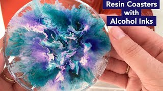 Petri Dish // Resin Coasters with Alcohol Inks