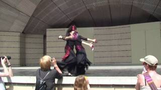 Tarantella dance performed by Duo Tarante Basse @ Eindhoven Dance Event