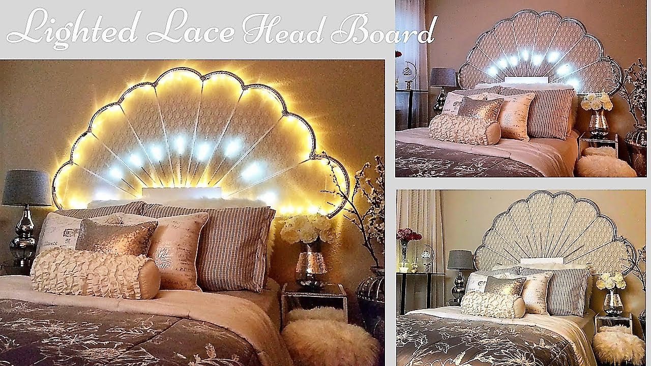High End looking Lace Headboard|Simple and Inexpensive Bedroom Decorating  Idea!