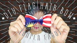 DIY Flag Hair Bow (SUPER EASY!!) 🎀