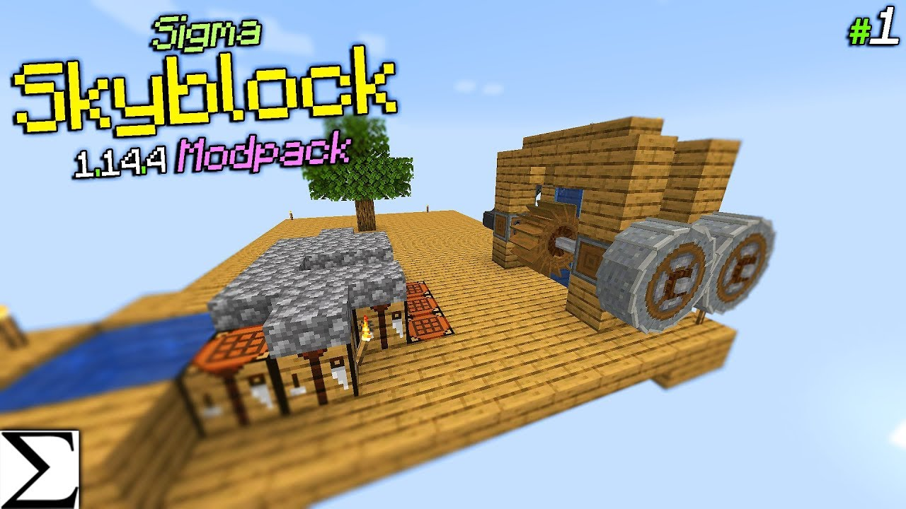 Sigma 1 14 4 Modded Skyblock Modpack #1 LIVE YouTube