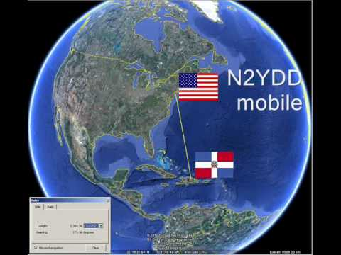 Mobile to Mobile HF Amat. Radio-Dominican Republic HI3/AD7GW with New York City N2YDD