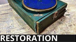 1938  rare Gramophone Restoration | I restored old record player