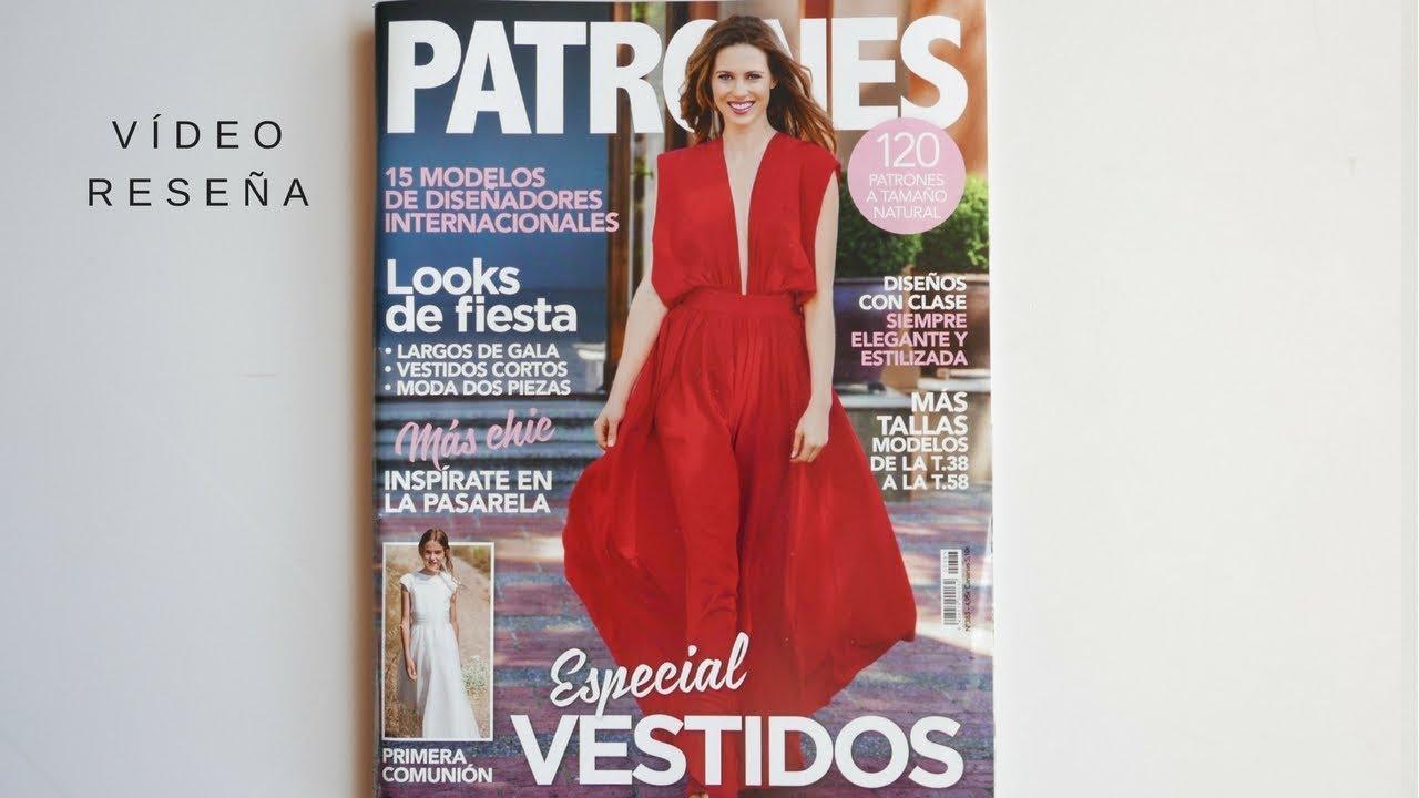 Revistas con moldes de vestidos de fiesta