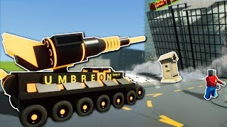 DESTRUCTION TANK BATTLE! - Brick Rigs Multiplayer Gameplay - Lego Tank City Destruction!