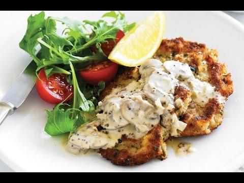 chicken schnitzel and spaetzle recipe video