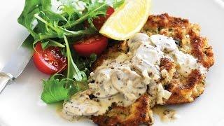 Veal Schnitzel With Creamy Mushroom Sauce - Recipe