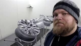 Покраска дисков в лютое серебро