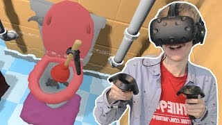VIRTUAL REALITY PLUMBER SIMULATOR  | PipeJob VR (HTC Vive Gameplay)