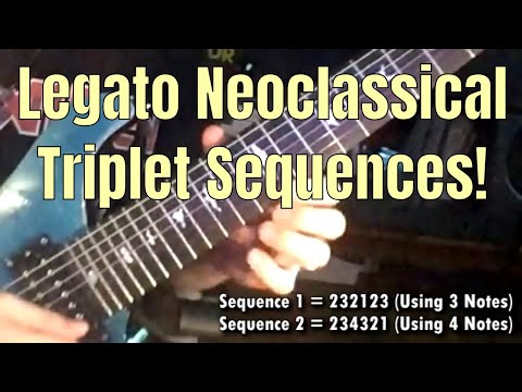 Legato Neoclassical Triplet Sequence: ShredMentor Challenge of the Day #83
