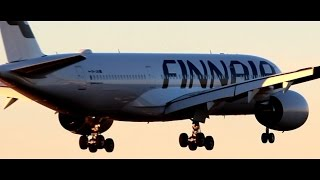 FINNAIR Airbus A350 XWB | FIRST Landing at Helsinki Airport | Water Salute | OH-LWA