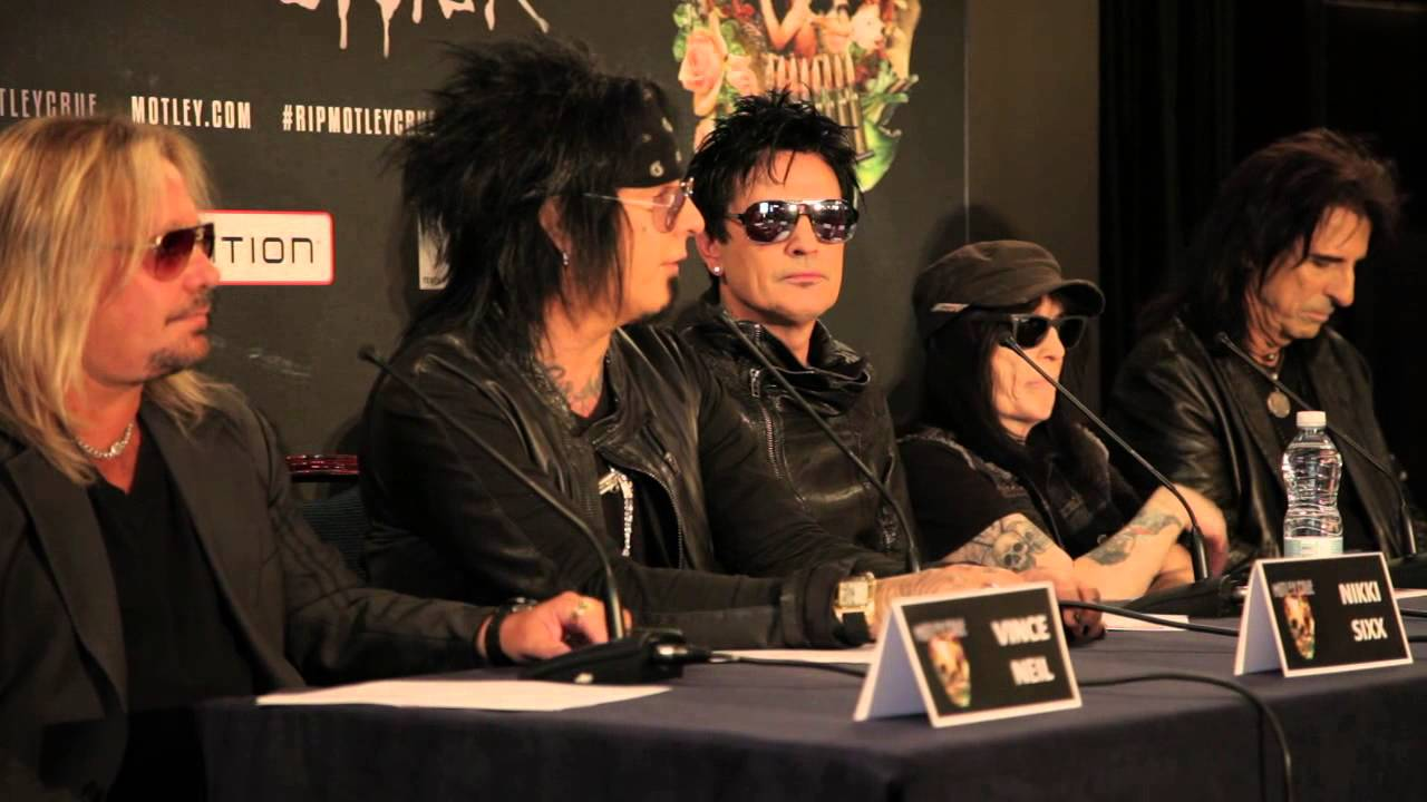 Motley Crue The Final Tour European Press Conference Youtube