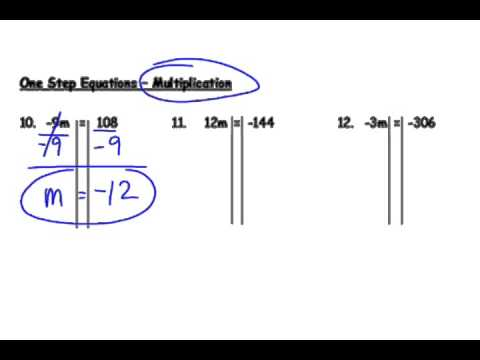 One step equations with negative numbers youtube one step equations with negative numbers ibookread ePUb