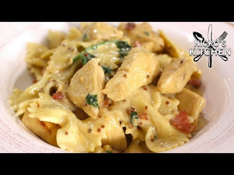 The BEST Budget Meal! Honey Mustard Chicken Pasta