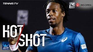 Hot Shot: Monfils Pulls Off No-Look Half Volley In Rio