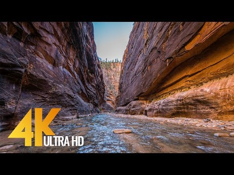 The Narrows - Unique Hike in the Zion National Park in 4K (Ultra HD) with Nature Sounds