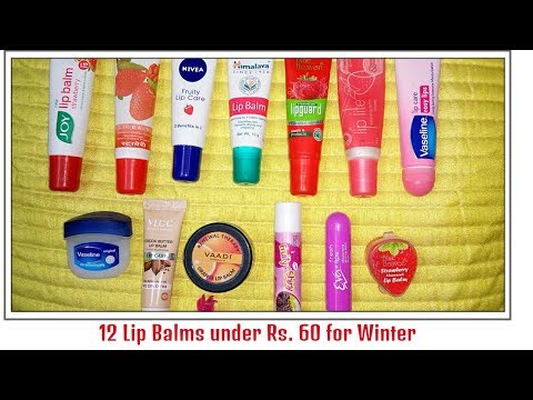 12 Lip Balms under Rs. 60 for Winter || Affordable Lip Balms || Its makeover tym