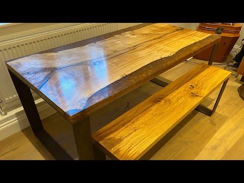 Bronze Resin Enlgish Oak Table And Bench