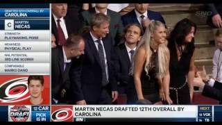 Martin Nečas - draft 2017, 12. pozice/pick, Carolina