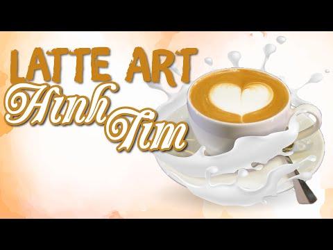 Cách Pha Cà Phê Latte Art Hình TRÁI TIM (Heart) | Học Barista