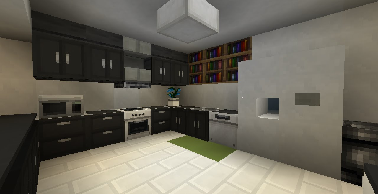 Minecraft - How To Build Kitchen (No Mod) - YouTube
