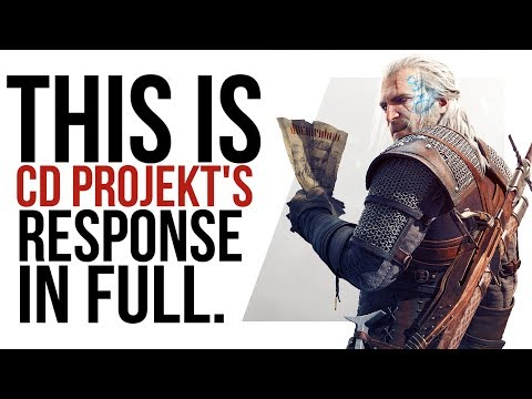 CD Projekt sent us a private response - here's what it said