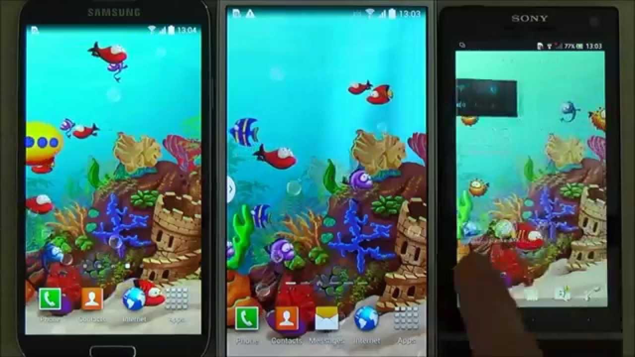 cartoon aquarium live wallpaper for android phones and