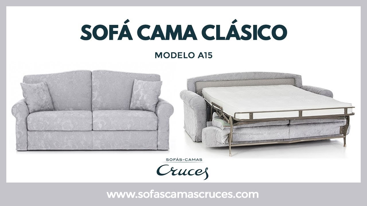 Sof cama cl sico de matrimonio youtube for Sofa cama de matrimonio