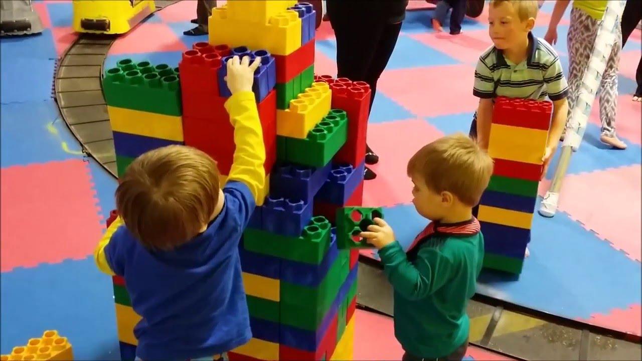 Jumbo Lego Building blocks with tower crash
