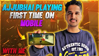 Ajjubhai Playing First Time On Mobile - Garena Free Fire - Desi Gamers Ft. @Total Gaming