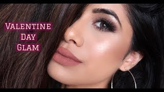 ULTRA GLAM VALENTINES DAY MAKEUP LOOK | High-end products | Malvika Sitlani