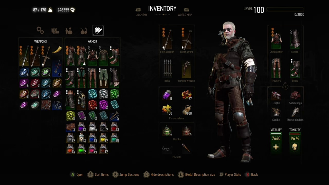 Witcher 3 Toxicity Mechanics, Using 5 Decoctions & Skill Switching