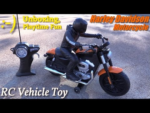 RC Toys for Kids: Harley Davidson 1200 Nightster Motorcycle Remote Control Toy Unboxing