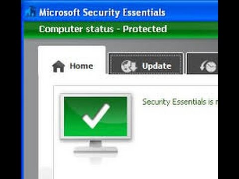 Fixing microsoft security essentials update issues.