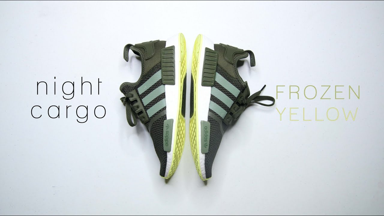 c142637f9c37e Adidas NMD R1 NIGHT CARGO SEMI FROZEN YELLOW    Best Budget NMD for 2018