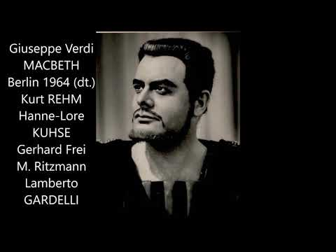 "Verdi: ""Macbeth"" (deutsch, Berlin 1964, Gardelli, Kuhse, Rehm)"