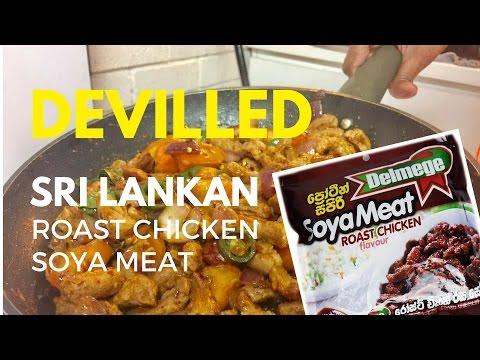 How to make Sri Lankan Devilled Soya Meat | Simple & Easy