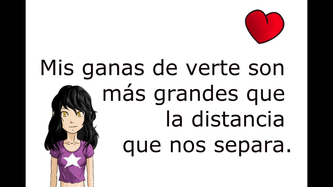Frases Amor A Distancia Parte 1 Youtube