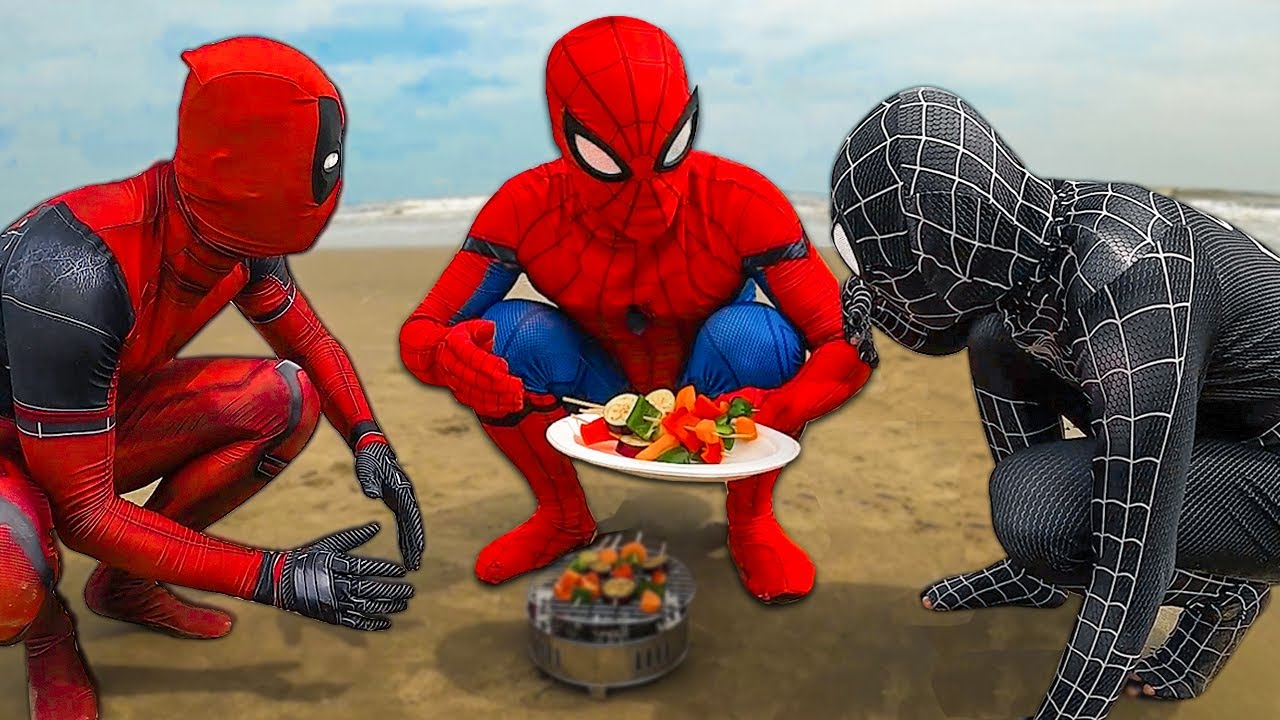 Download SUPERHERO in real life | Spider-man, Venom and Deadpool Go To The Beach | Comedy Funny Video