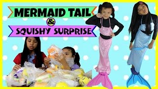 Mainan Mermaid Costume Kids and Squishy Haul Surprise ♥ Unboxing Banggood ♥ Putri Duyung Anak