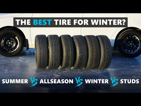 The BEST Tire For Winter? Summer, All Season, All Weather, Winter And Studded Tires Tested!