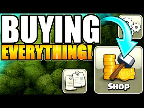 BUYING EVERYTHING IN THE CLASH OF CLANS STORE!