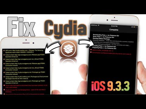Fix Cydia Error Messages iOS 9.3.3 - 10.2 Jailbreak