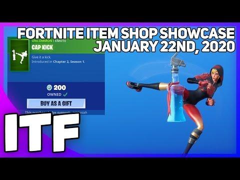 Fortnite Item Shop *NEW* CAP KICK EMOTE! [January 22nd, 2020] (Fortnite Battle Royale)