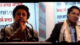 राष्ट्रको अहित हुने गरि संविधन संसोधन गर्नु हुदैन ।Sujata Koirala with Rishi Dhamala Nepali Bahash