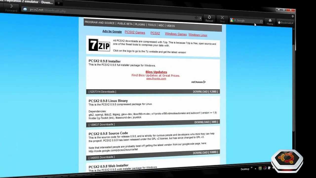 Installing PCSX2 (PS2 Emulator and Bios)