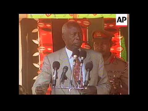 Kenya - President Moi says govt will stop violence