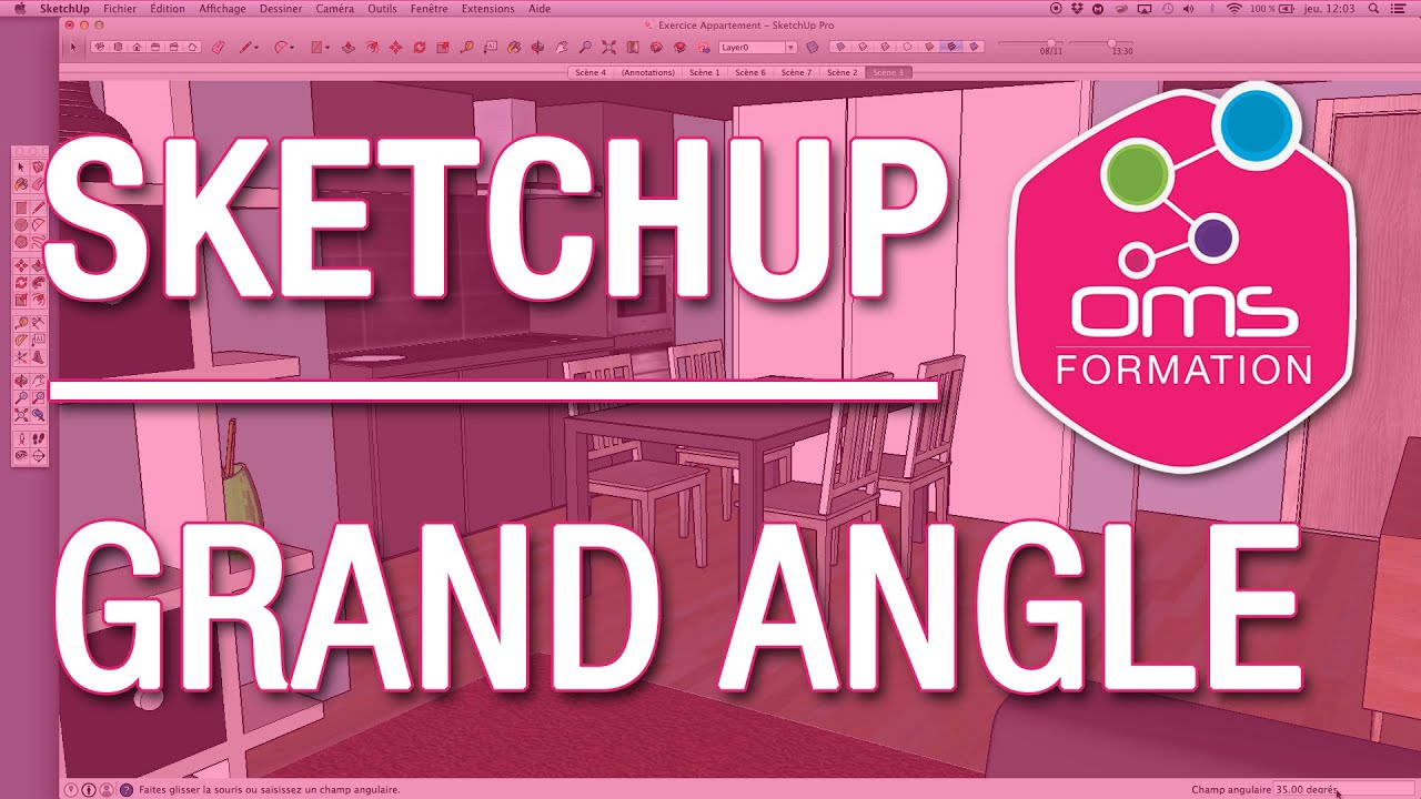 how to find angle in sketchup