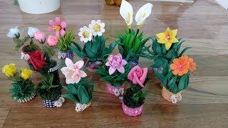Arranjos florais em miniatura. gastando muito pouco – Ideal para lembrancinha