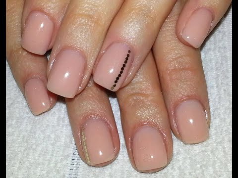 Short Nude Acrylic Nails + Quick And Easy Nail Design - Short Nude Acrylic Nails + Quick And Easy Nail Design - YouTube